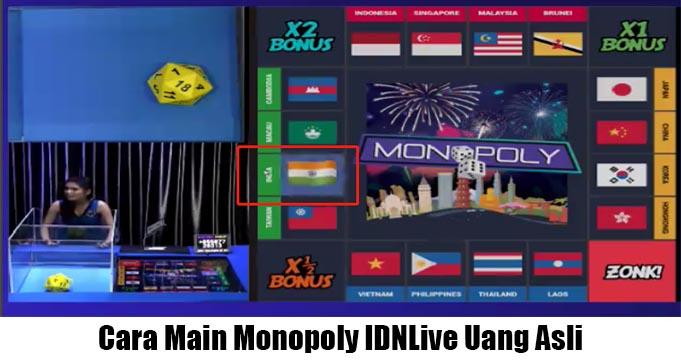 Cara Main Monopoly IDNLive Uang Asli